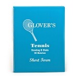 Glover's Tennis Shortform Scorebook (30 Matches)